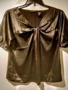New York & Company Tops - New York & Company chocolate brown satin shirt